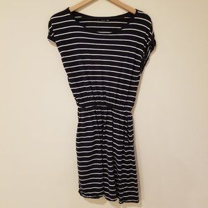 H&M Navy Dress with White Stripes